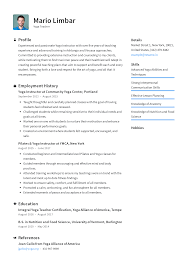 Modern Resume For Instructors Yoga Instructor Resume Templates 2019 Free Download
