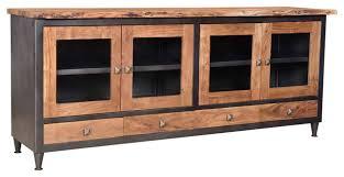 gannett live edge 4 drawer 4 glass
