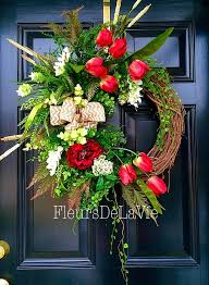 spring wreath for front doorTop Spring Wreath For Front Door About remodel Fabulous Home Decor