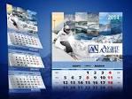 Дизайн квартального календаря