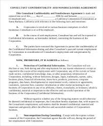 Consulting Agreement In Pdf Impressive 44 Confidentiality Agreement Samples Sample Templates