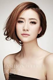 Korean Woman Short Hair Style asian bob hairstyle with long side bangs 5687 by stevesalt.us
