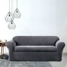 surefit couch covers sofa covers stretch sure fit stretch metro two piece grey sofa slipcover sure
