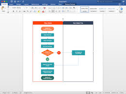 How To Insert A Flow Chart Into Word Add A Cross Functional Flowchart To Word Conceptdraw