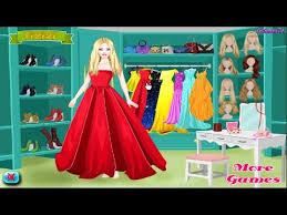 barbie fashion prom dress up game