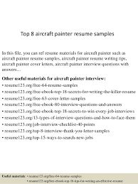 Painter Resume Cool Top 28 Aircraft Painter Resume Samples