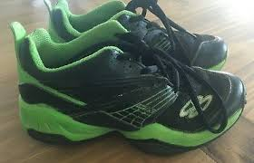 Boombah Turf Shoes Size 3 5 Youth Boys Black And Lime Green Ebay