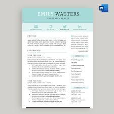 Resume Cv Template Package For Microsoft Word Oceanside