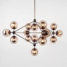 lighting globes glass. Jason Miller Modo Chandelier 4 Sided 15 Globes Bronze Smoke Glass Lighting