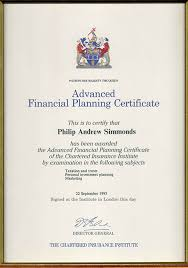 academic professional qualifications private office  cii level 6 advanced diploma in financial planning