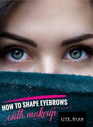 how to shape eyebrows with makeup 05