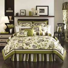 lime green walls with black and white bedding design ideas