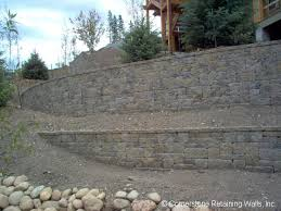 residential landscape retaining wall