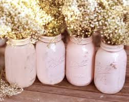 Glass Jar Table Decorations Vintage Weddings Distressed Mason Jars for Vintage White 51