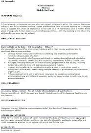 Ideas Of Hr Generalist Cover Letter Fabulous Hr Generalist Cv