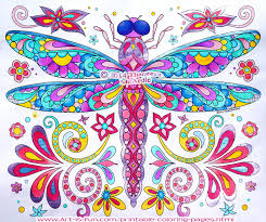 Small Picture Dragonfly coloring page by Thaneeya McArdle from Groovy Animals