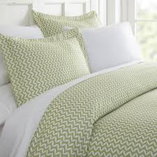 becky cameron puffed chevron patterned performance sage king 3 piece duvet cover set ieh duv puf k sa the home depot