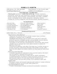 Diesel Mechanic Resumes Resume Automotive Mechanic Diesel Mechanic Resume Template Sample