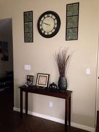 small entryway furniture. Narrow Entryway Table Wall Clock With Decorations Work Well Small Furniture
