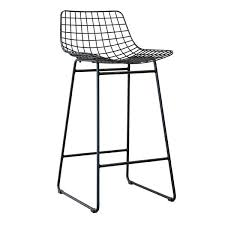 hk si2 bar stool made of black painted wire 42x47x89cm 199