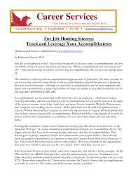career achievements in resumes template career achievements in resumes