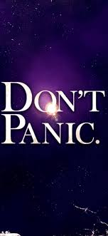 Rick & morty don't panic nebula graphic wallpaper, rick and morty, the hitchhiker's guide to the galaxy, space, rick sanchez. Hd Mobile Phone Wallpapers For Background Do Not Panic Wallpaper 743 1609