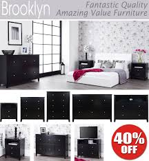 black bedroom furniture. Contemporary Furniture Hanging Rail 2 Drawers Dovetail Joints Easy Glide Metal Runners Chrome  Handles In Black Bedroom Furniture
