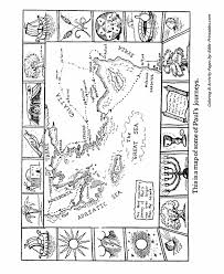 The Apostles Coloring Pages Map Of Pauls Journeys Bible Printables