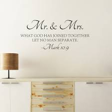 <b>Mr & Mrs Quote</b> Wall Sticker Bible Love Quotes Wall Decal High ...