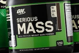 image of a bottle of m gainer protein powder