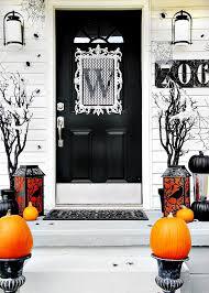 halloween front door decorationsFour Ideas For Inexpensive Halloween Door Decorations