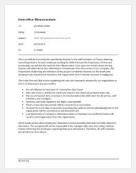 Sample Memos On Attendance And Punctuality Document Hub