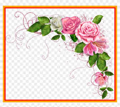 red rose border red rose border corner png awesome pink flower border clipart 826288
