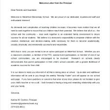 Welcome Back To School Letter Templates Parent Letter Template