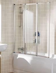 lakes classic framed triple panel bath shower screen 1390 x 1400mm silver