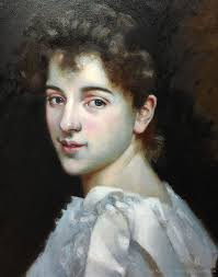 portrait painting gabrielle cot copy