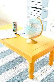 yellow wood coffee table mustard playroom coffee table makeover an old wooden coffee table yellow wood