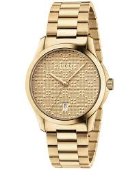 gucci watches macy s gucci unisex swiss g timeless gold tone pvd stainless steel bracelet watch 38mm ya126461