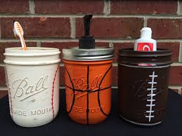 Sports Theme Bathroom Decor Baseball Football Basketball, Young ...