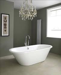 white bathtub paint minimalist bathroom decor with stand alone soaking tubs chrome plated metal floor stand