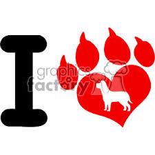 red dog paw clipart. Contemporary Paw 10704 Royalty Free RF Clipart I Love With Red Heart Paw Print Claws  And Dog In B