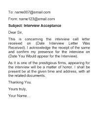 How To Confirm An Interview 38 Professional Interview Acceptance Emails Smart Tips