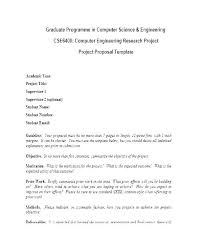Project Proposal Template For Students Week 2 Course Project