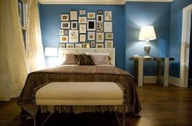 duck egg blue bedroom ideas with brown bedding