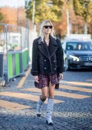 chanel glitter boots. linda tol wearing chanel glitter boots jacket dress seen outside during paris fashion week r