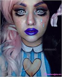 best photos for scary doll makeup ideas