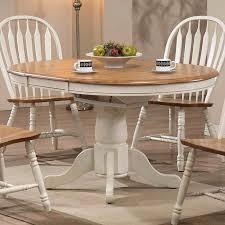 missouri round dining table antique white rustic oak round oak kitchen table sets