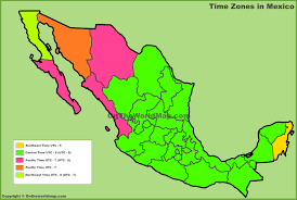 Map Of Us And Mexico Time Zones