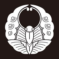 浮線蝶のeps画像のフリー素材家紋素材の発光大王堂