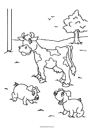 Dieren Kleurplaat Koe